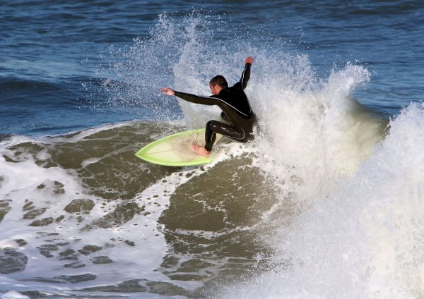 Surfing the Cove in Seaside, Oregon