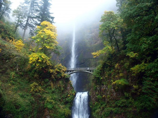 Multnomah falls one of the most beautiful waterfalls in the columbia